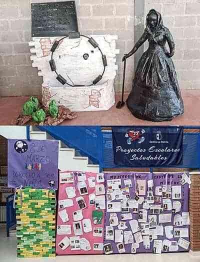 Los colegios de Argamasilla de Calatrava se han sumado al Día Internacional de la Mujer