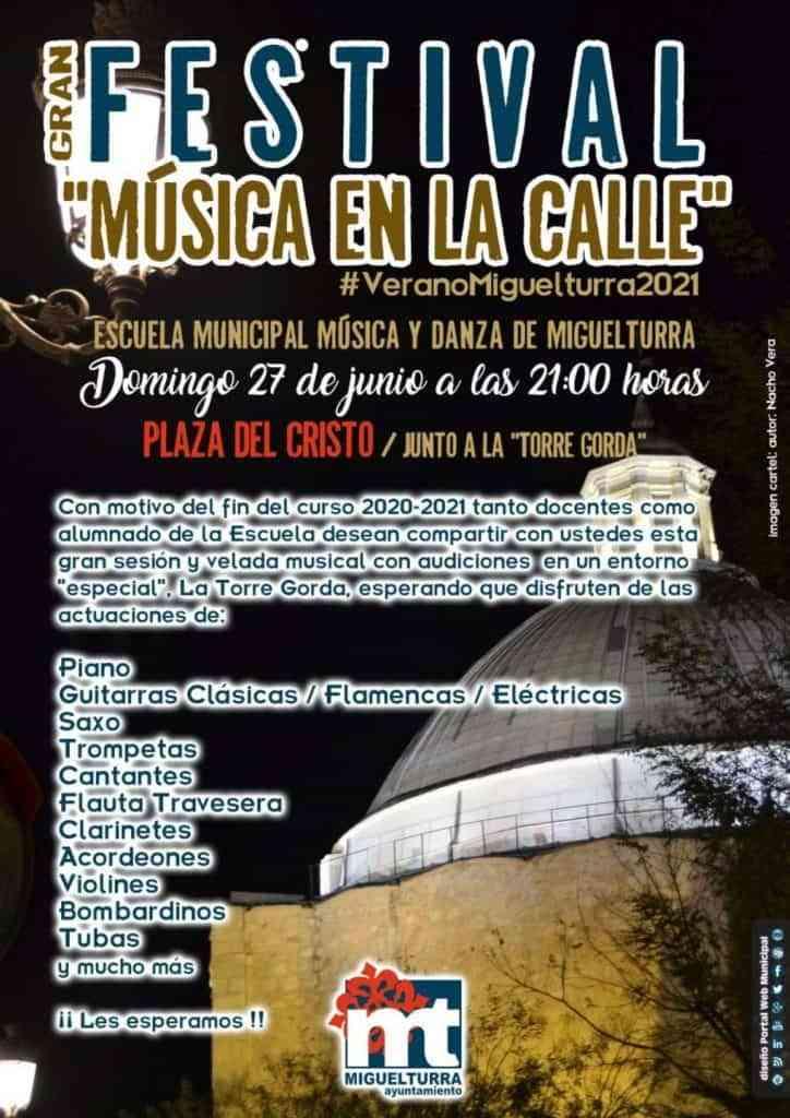 gran festival musica en la calle miguelturra - Gran Festival «Música en la calle» este domingo 27 de junio en Miguelturra