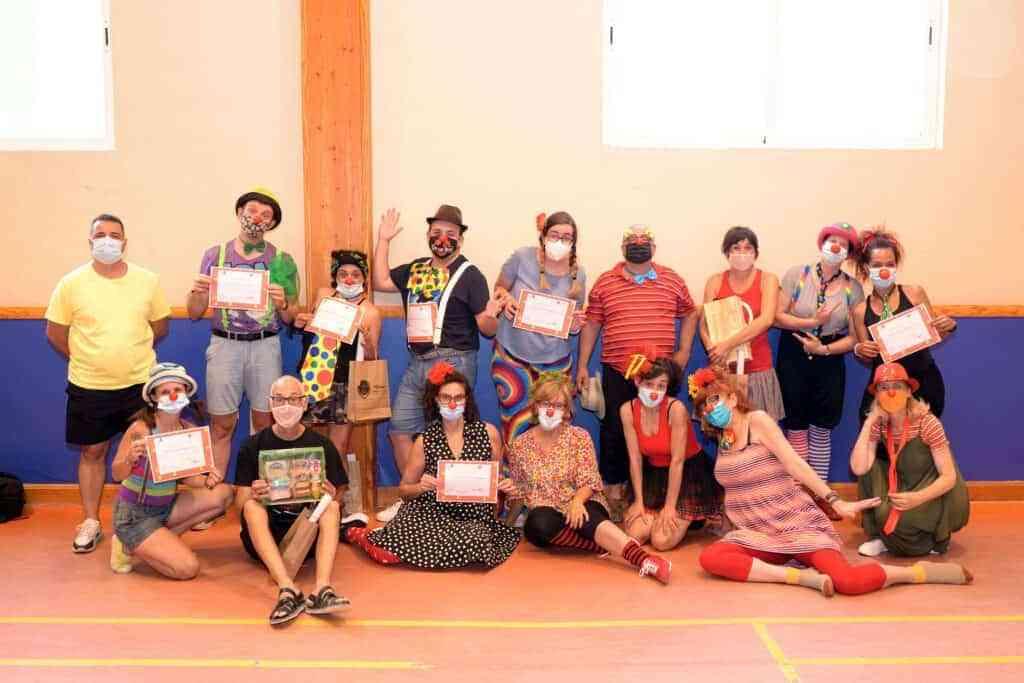 """taller de clown - Navarro clausuró el taller de clown impartido por la Escuela de Payasos """"Los hijos de Augusto"""""""