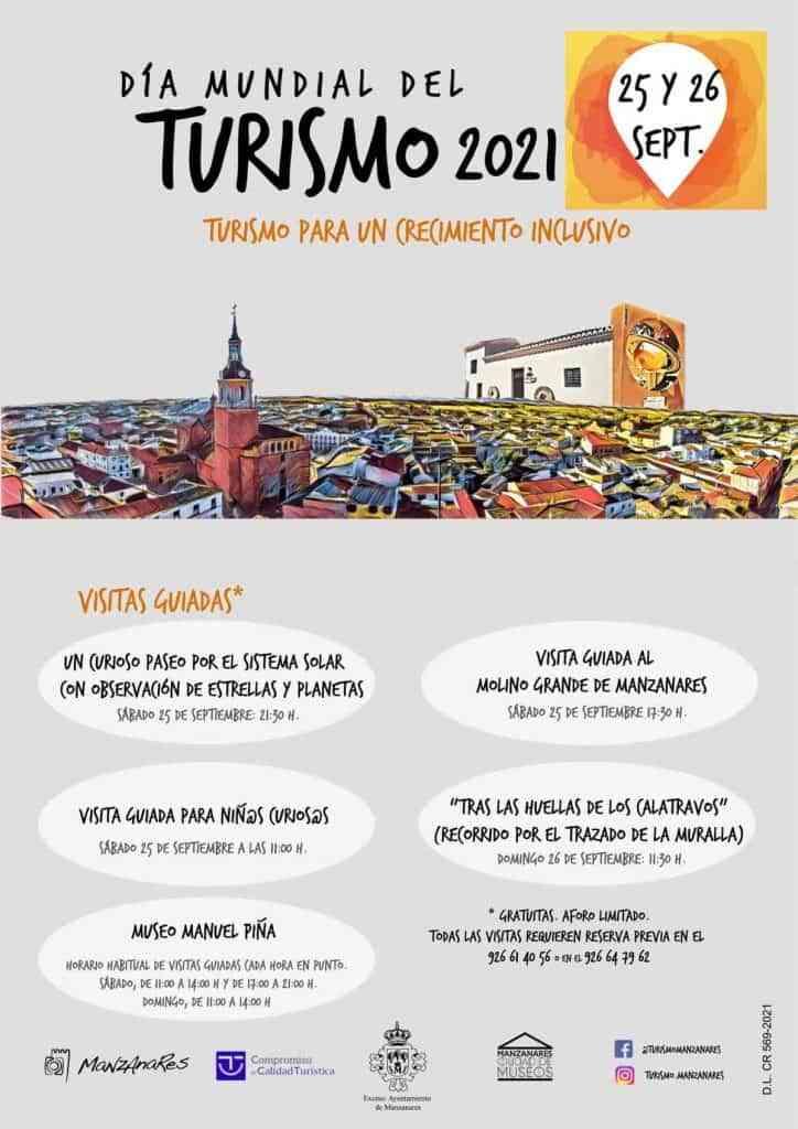 visitas guiadas dia mundial turismo manzanares - Visitas guiadas el 25 y 26 de septiembre Manzanares por el Día del Turismo