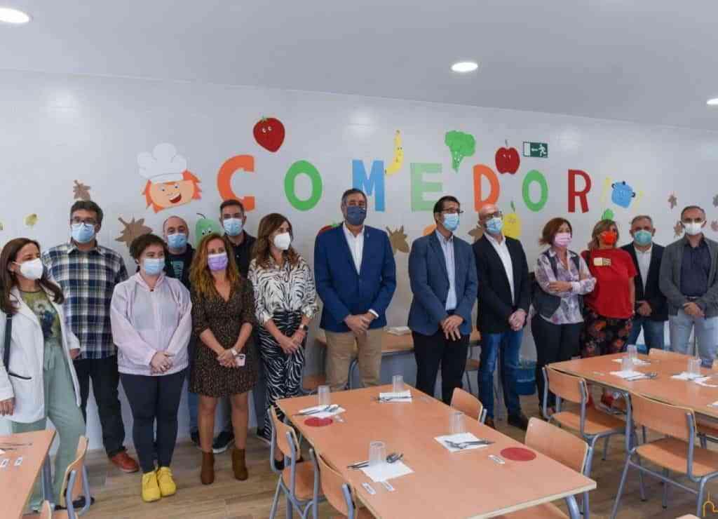 nuevo servicio comedor escolar argamasilla alba ciudad real - Nuevo comedor escolar en Argamasilla de Alba inauguró el presidente de la Diputación de Ciudad Real